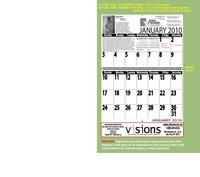 custom designed supersize large print calendars including your imprint on a drop leaf panel that hangs below all calendar pages, ALL year
