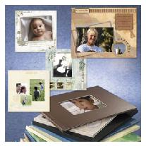books from digital photos with journaling, choice of covers, size and page themes.
